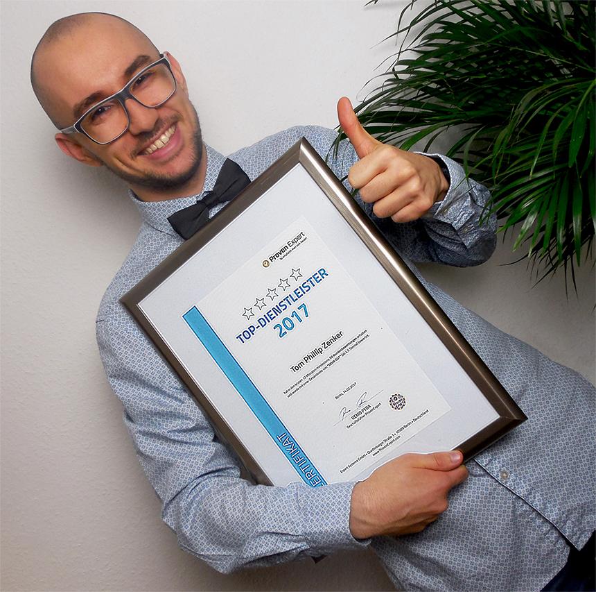 Auszeichnung TOP-Dienstleister 2017 ProvenExpert