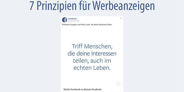 Facebook: 7 Prinzipien für Anzeigen und Werbesystem
