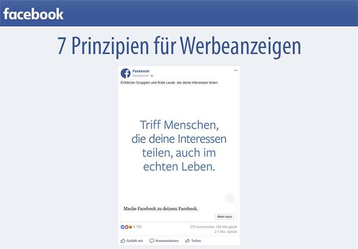 Facebook Regeln für Werbeanzeigen