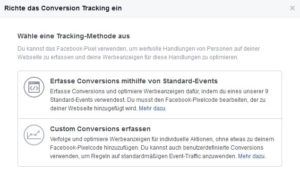 Facebook Custom Conversions erfassen