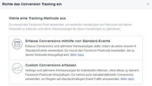 Facebook Custom Conversions erfassen