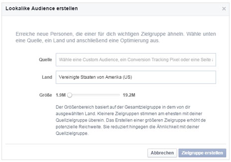 Facebook Lookalike Audiences erstellen