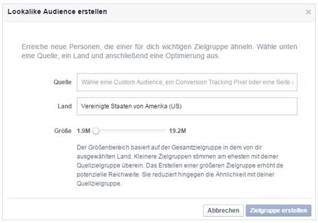Facebook Lookalike Audiences erstellen