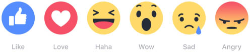 Facebook Reactions Smileys