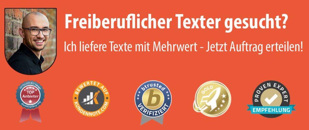 Freiberuflicher Texter gesucht? SEO Website Texte