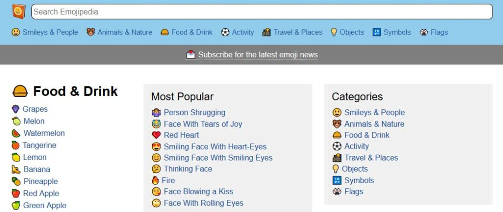 Google Emojis emojipedia