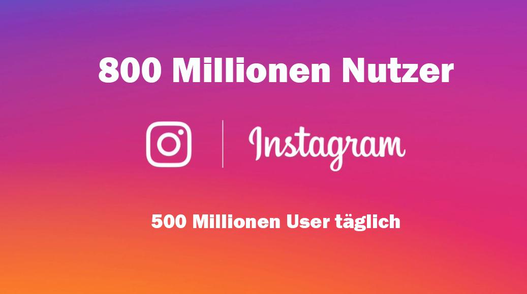 Instagram Nutzerzahl 2017