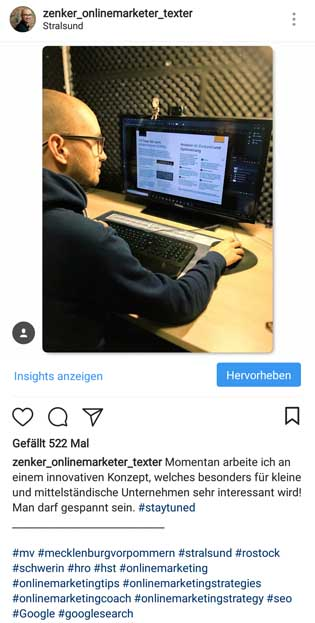 Instagram Hashtags Spam vermeiden