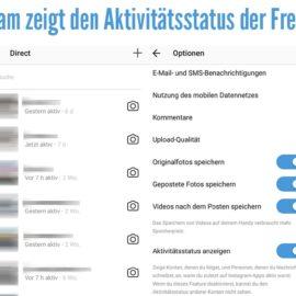 Instagram zeigt den Aktivitätsstatus der Freunde an