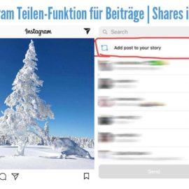Instagram Teilen-Funktion für Beiträge | Shares in Story