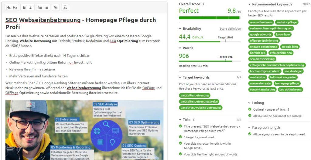 SEO Homepage Pflege durch Experten