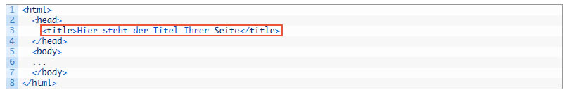 Title Tag HTML Code