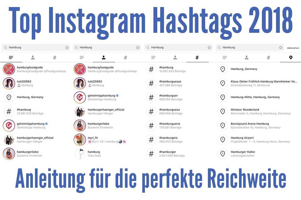 Top Instagram Hashtags 2018 finden