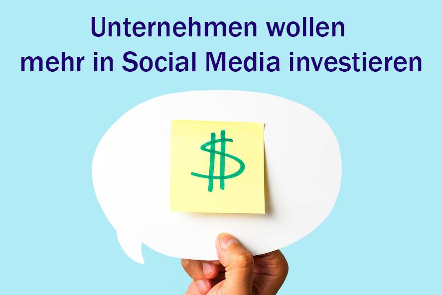 Unternehmen Social Media Budget steigern