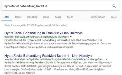 WordPress Bild Anhang Seite Google