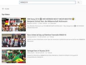 YouTube Hashtag Suche
