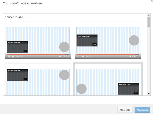 YouTube Vorlagen Abspann Tool