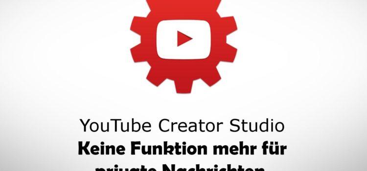 YouTube stellt Funktion für private Nachrichten im Creator Studio ein
