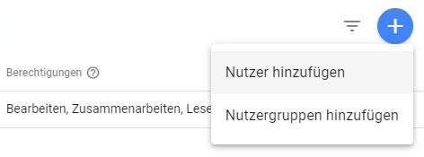 Google Analytics Nutzer eintragen