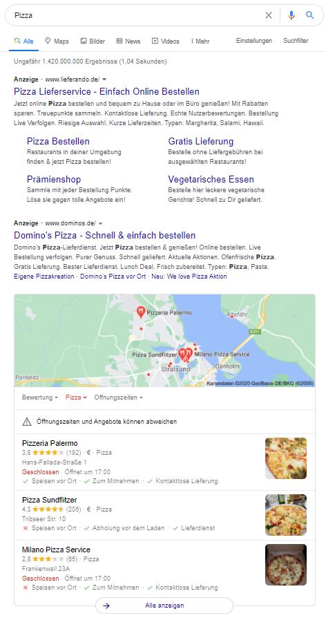 lokale SEO Optimierung Google