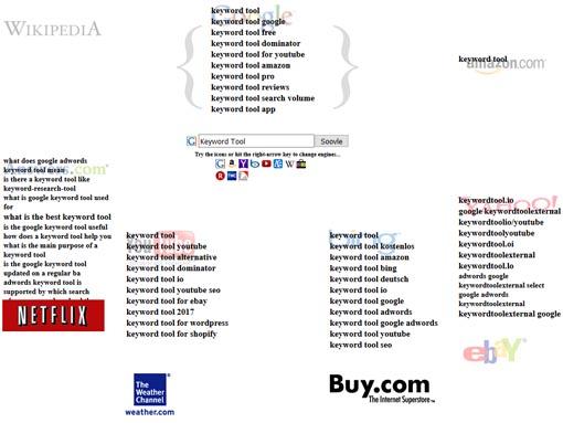 soovle: Das Web nach Keyword Kombinationen durchsuchen