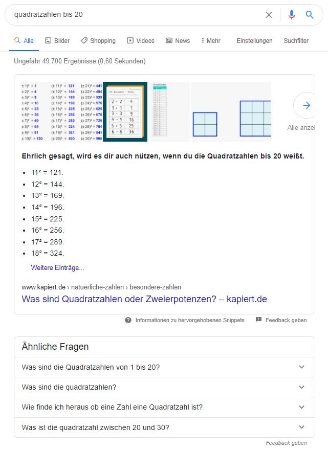 Suchintention Google Information Suchanfrage